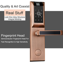 Eseye Digital Door Lock APP Bluetooth Password Fingerprint Touch Screen For Home Apartment