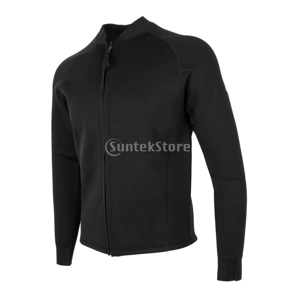Premium 3mm Black Neoprene Scuba Diving Men Wetsuit Top for Surf Kayak Swimming Sailing Bodyboard Water Sports S M L XL 2XL 3XL 2xl 3xl