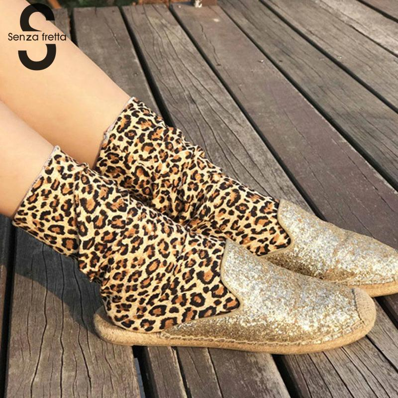 Retro Fashion Leopard Print   Socks   Autumn Winter Personality Female   Socks   Comfortable Spandex Women   Socks   NYY0106