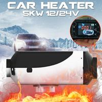 5KW 12V/24V Car Heater Air Diesels Heater Parking Heater With Remote Control LCD Monitor for RV Motorhome Trailer Trucks Boats