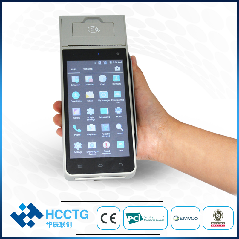 EMV Certified Touch Screen Android POS Terminal With Sim Card HCC-Z90