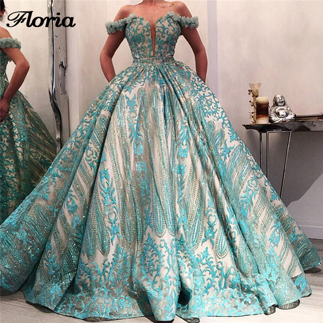 African Ball Gown Green Evening Dresses For Wedding Robe de soiree 2018  Aibye Turkish Long Prom Pageant Party Dress Abendkleider d0d9ba5f92a1