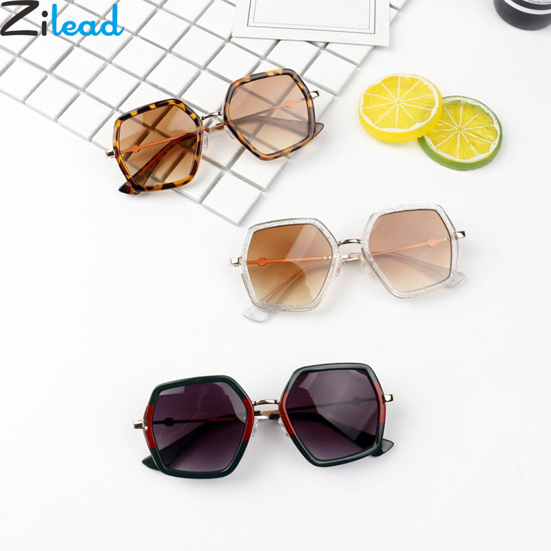 Zilead Polygon Metal Sunglasses For Baby Retro Boys&Girls Sun Glasses Vintage Mirror UV400 Oculos De Sol Eyeglasses Unisex(China)