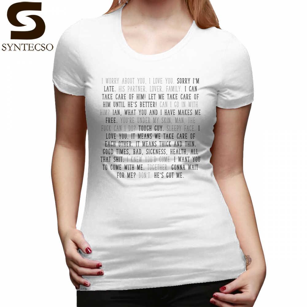 fb2003444 Gallavich T-Shirt Mickey Milkovich Quotes T Shirt Print Large size Women  tshirt Orange Casual