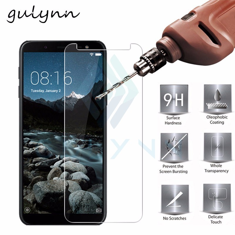 9H HD Tempered Glass For Samsung Galaxy A3 A5 A7 2017 2018 Cover Screen Protector Glass On Samsung J4 J6 A8 A6 Plus 2018 Film in Phone Screen Protectors from Cellphones Telecommunications