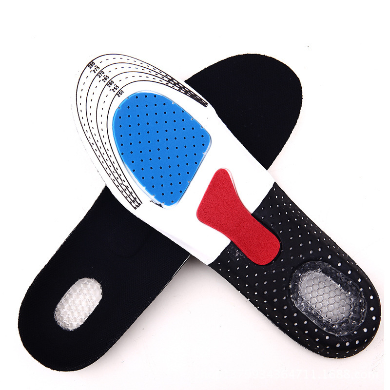 Sport Running Silicone Gel Insoles For Feet Man Women For Shoes Sole Pad Massaging Shock Arch Support Sneaker Accessories