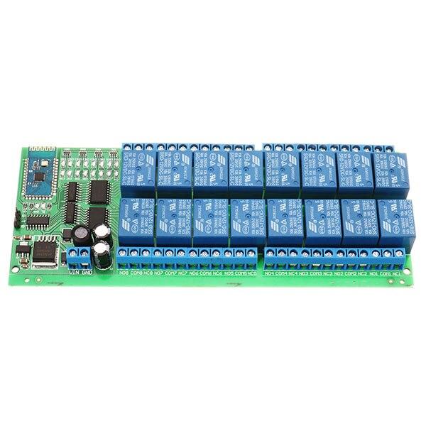 Commutateur à télécommande sans fil de carte de relais de bluetooth de cc 12 V de 16 canaux pour des téléphones Android avec des fonctions de bluetooth