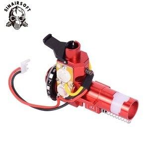 Image 5 - טקטי PRO CNC אלומיניום אדום הופ עד קאמרי עם LED Fit AEG M4 M16 עבור פיינטבול Airsoft ציד יעד ירי אבזרים