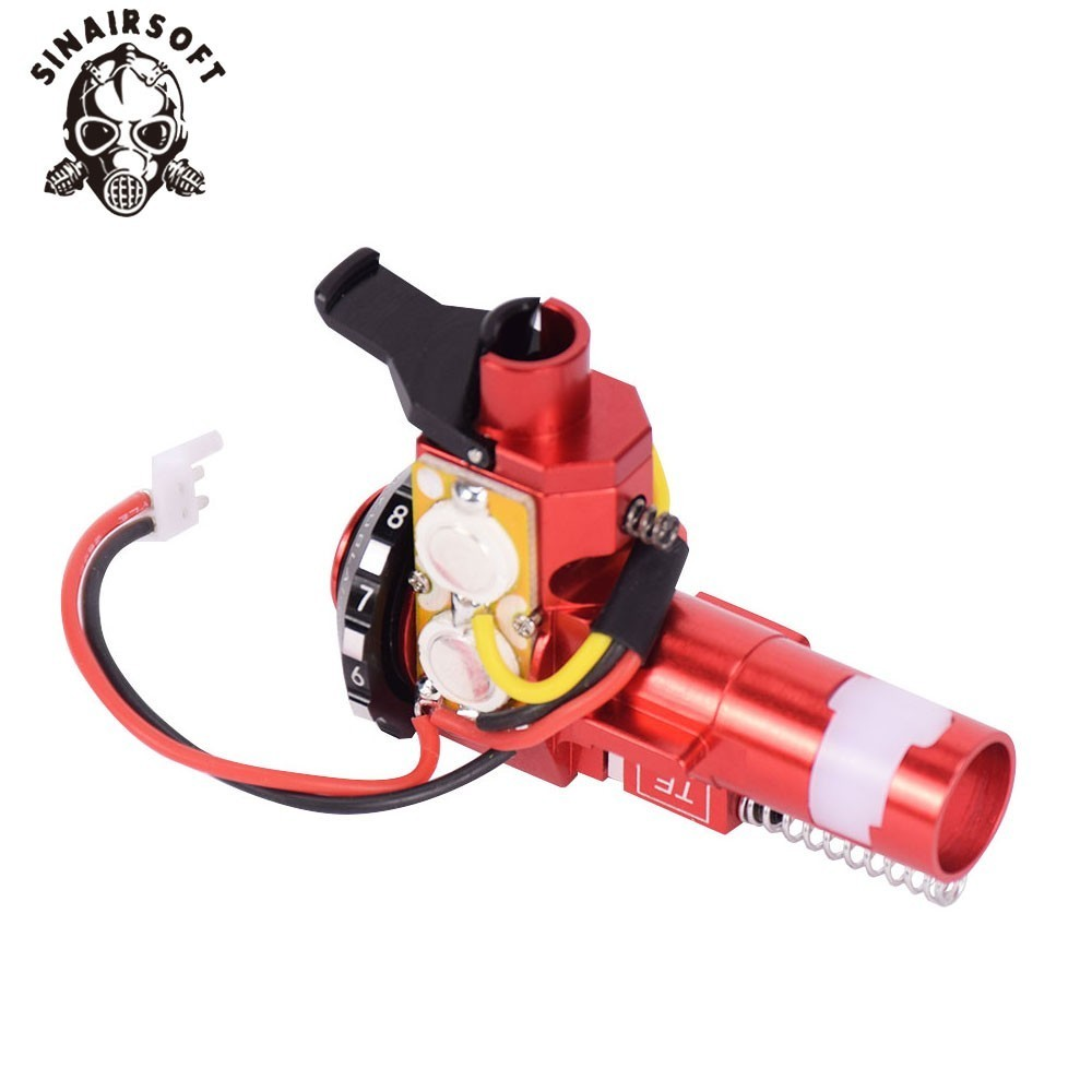 Image 5 - Tactical PRO CNC Aluminum Red Hop up Chamber with LED For AEG M4 M16 series paintball Airsoft hunting Accessories free shipping-in Paintball Accessories from Sports & Entertainment