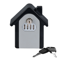Lock Key Safe Box Outdoor Wall mounted Keys Storage Box 4 Password Lock Security Organizer Boxes For House Home