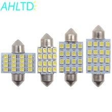 10X 3528 1210 white DC 12V 16 SMD LED Car Dome Festoon Interior Lights Bulbs 31mm 36mm 39mm 41mm Auto Roof Car Trunk light waterproof 5 85w 312lm 39 smd 1210 led red car angel eye lights white dc 12v 120mm 2 pcs