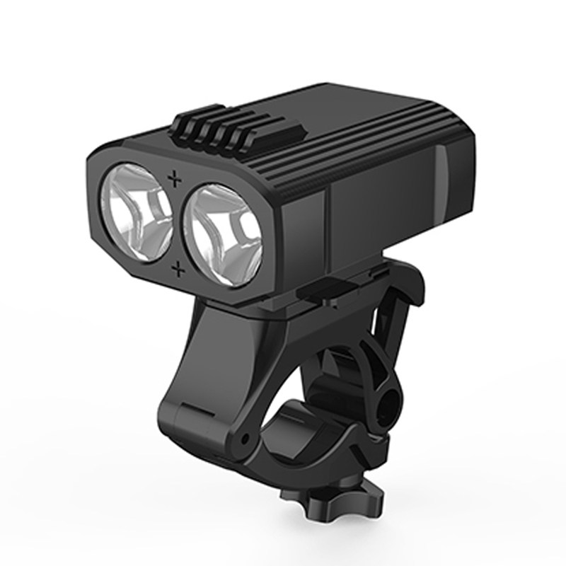 Bike Handlebar Power Bank Phone Bracket 400LM 2LED Front Light Horn Phone Holder