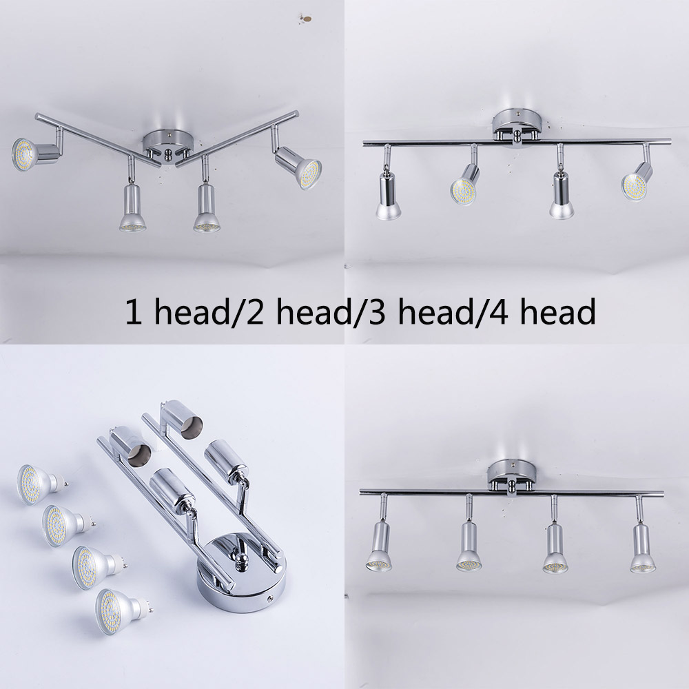 Angle Adjustable Rotatable Led Ceiling Light Showcase With GU10 Led Bulb Living Room LED Cabinet Spot Lighting