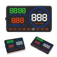 Smart 5,5 zoll HD Überdrehzahl alarm Abstand messung Auto head up display Mit OBD2 und EUOBDM9 HUD display