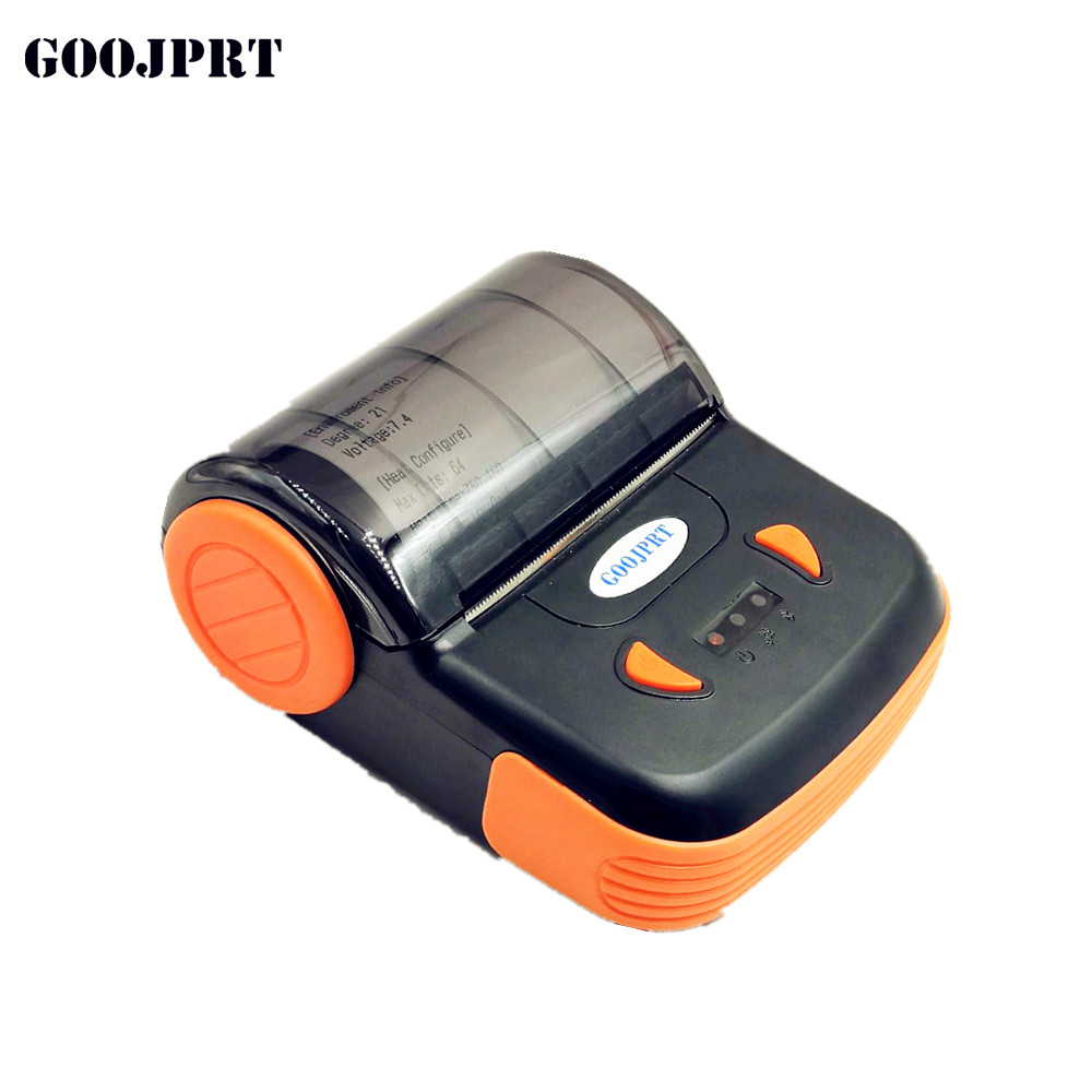 Mini Portable USB Thermal Printer 80mm Bluetooth Thermal Printer POS Receipt Printer Barcode Printer For IOS Android Windows