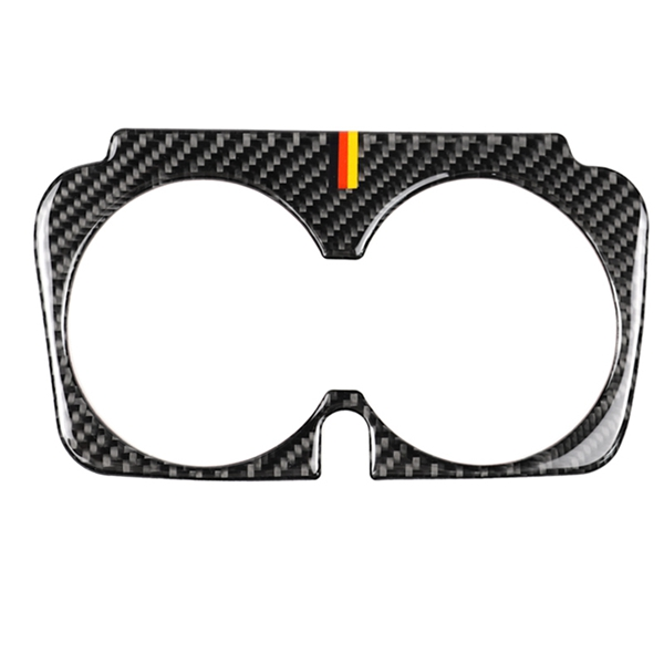Car Styling Carbon Fiber Water Cup Holder Frame Trim Sticker For Mercedes Benz C Class <font><b>W205</b></font> C180 C200 <font><b>C300</b></font> GLC Accessories image