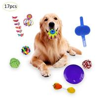 17PCS Cat And Dog Teether Toy Teeth Grinding Molar Toy Pet Interactive Toy Funny Teasing Cat Supplies Decoration Random Color