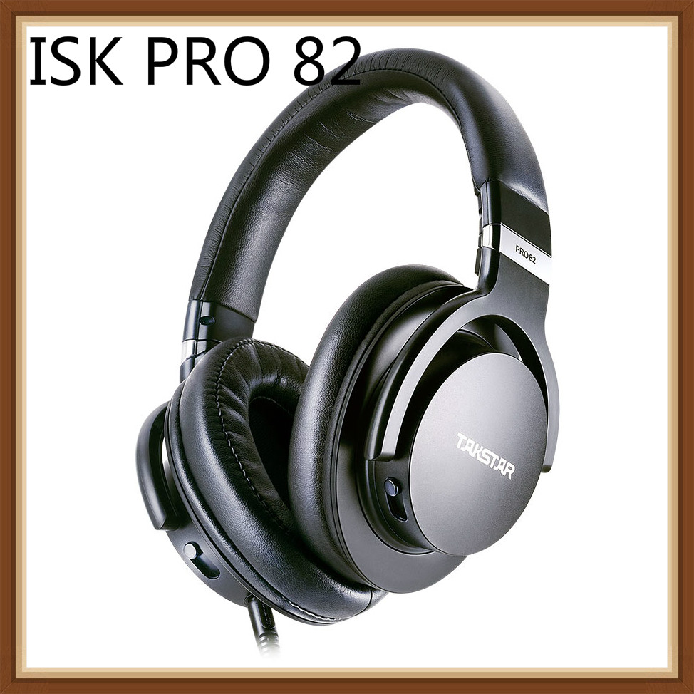 Takstar PRO82 Professional Reference Monitor Headphone Bass Adjustment Dynamic Studio DJ Over Ear Noise Cancelling Headset