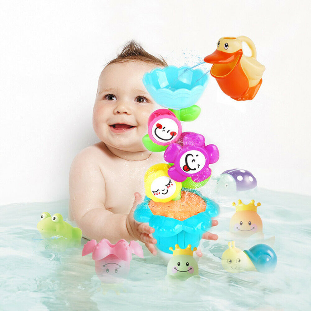 Baby Bathing Toy For Baby Bathing Toy Set Squirt Kids Float Water Tub Rubber Bathroom Play Gifts
