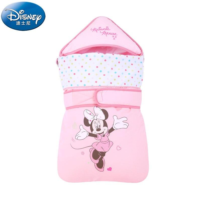 Disney Cartoon Mickey Minnie Baby Receiving Blankets Newborn  Baby Girls Boys Cotton Blankets Winter Autumn Warm Sleeping Bags