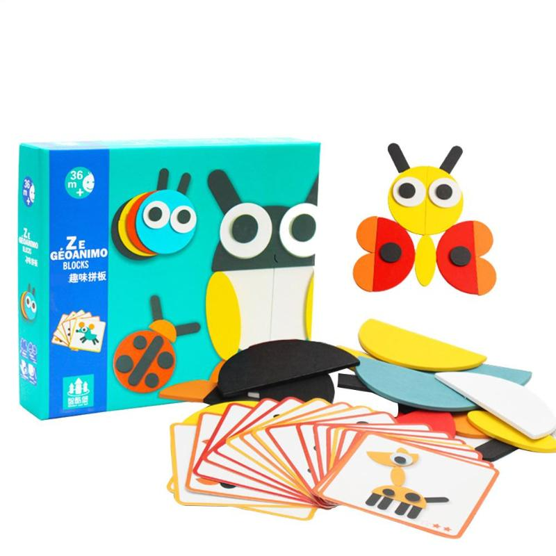 Creative 3D Wooden Jigsaw Puzzle Set Kids Educational Montessori Toys Children Animals Bees Wooden Jigsaw Puzzle Birthday Gift