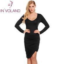 Brand Women Dresses Autumn Winter Bodycon Scoop Long Sleeve Asymmetrical Hem Slim Party Dress Femenino Vestidos Clearance
