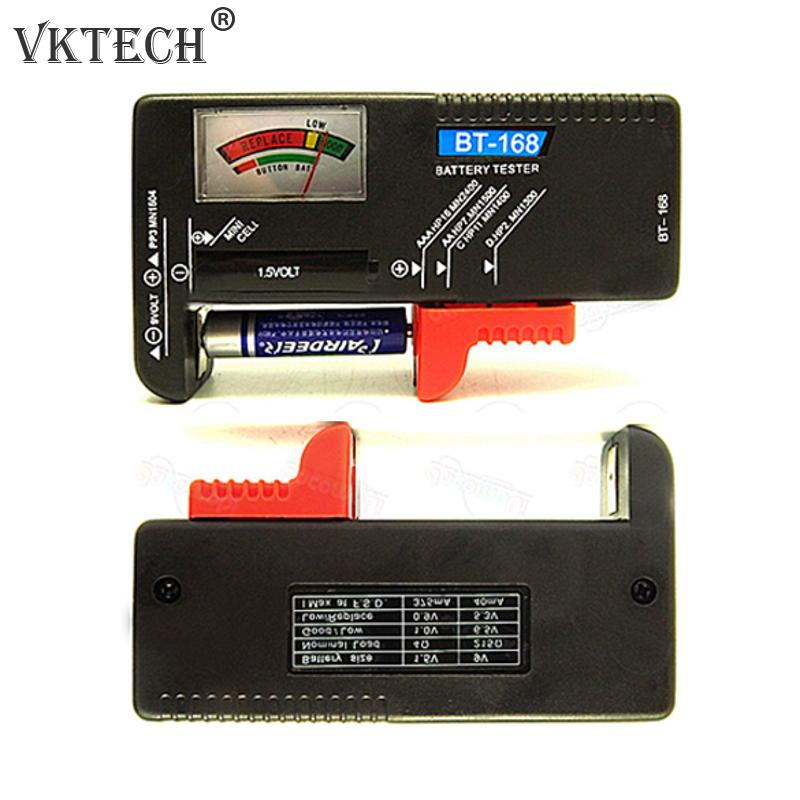 Universal Battery Tester font b Electronic b font Battery Volt Checker AA AAA 9V Button Multiple