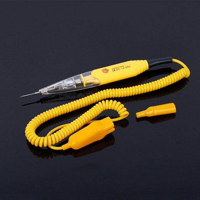 Stylo de détection de crayon de test de ligne de circuit de voiture universel 12v 24v, lumière de test multifonction pour véhicule, électroscope