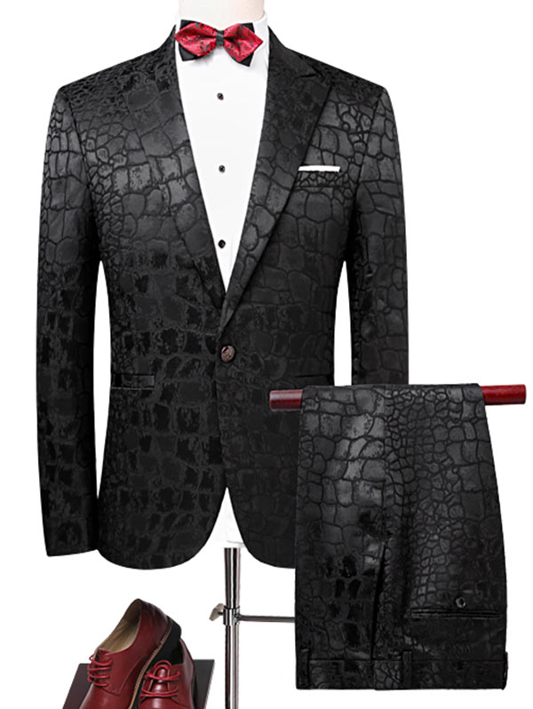 Men'S Business Casual Clothing Fashion Slim Groomsman Three-Piece Suit Blazer Suits Jacket Pants Trousers Sets One Button Phyton