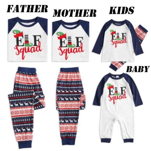 XMAS Hot Family Matching Christmas Pajamas Sets Unisex Adult Kids Mom Dad Baby Sleepwear Nightwear PJs Sets Autumn Winter new
