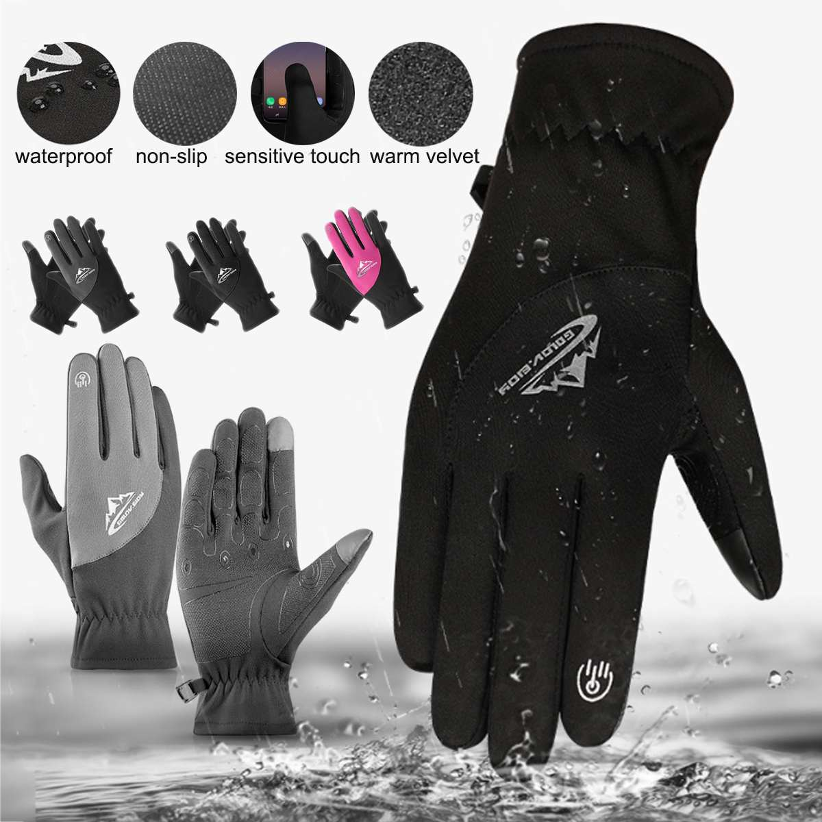 US $4.6 |Thermal Ski Gloves Winter Fleece Waterproof Snowboard Gloves Snow Motorcycle Skiing Gloves Sportswear for Men Women Gloves-in Skiing Gloves from Sports & Entertainment on Aliexpress.com | Alibaba Group