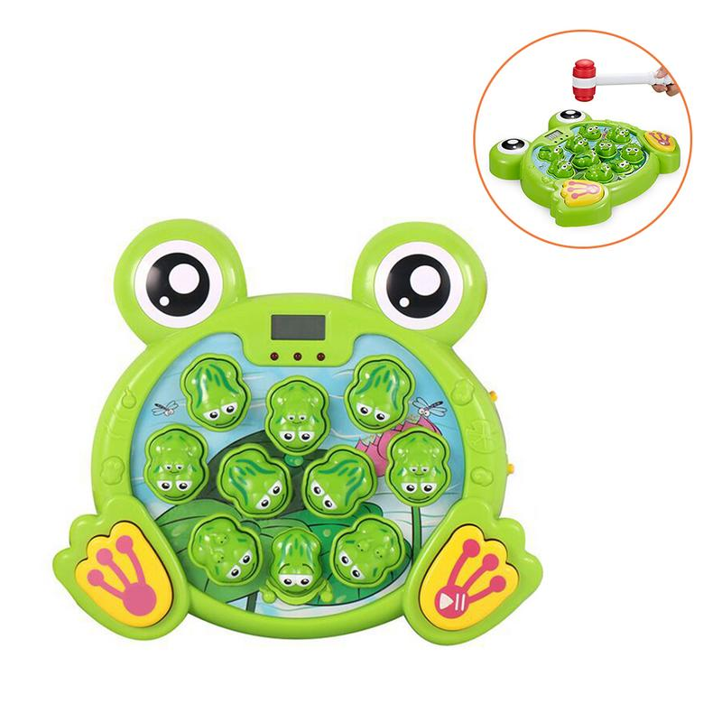 Funny Frog Game Machine Music Electric Interactive Safe Durable Plastic Kids Children Favor Electric Pet Game Toy Hit Hamster