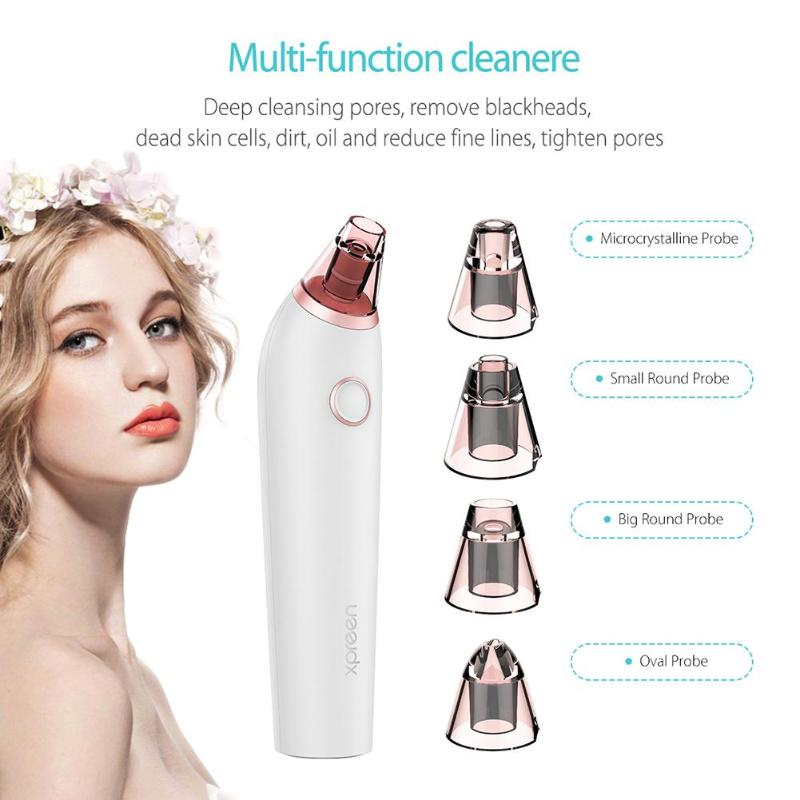 Купить с кэшбэком Pro Vacuum Pore Cleaner Rechargeable Facial Cleaning Blackhead Acne Removal Suction Black Spot Cleaner Face Care Tools Machine