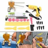 Drillpro 29Pcs Car Dent Repair Bridge puller Glue Gun Taps Auto Hail Dent Removal PDR Tools Kit