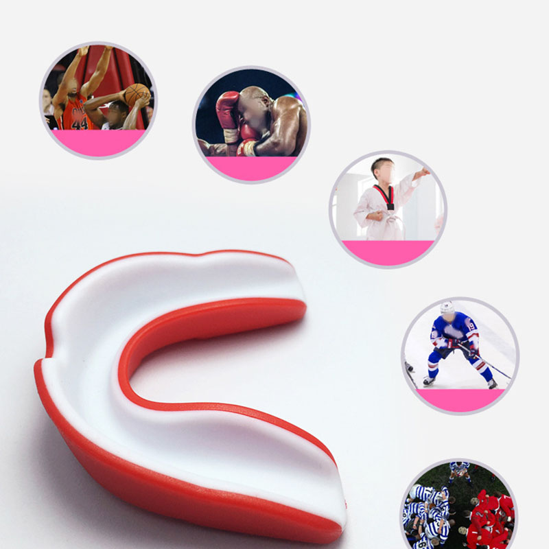 Adults Sports Soft Mouth Guard Boxing Karate Teeth Protective Protection Tool