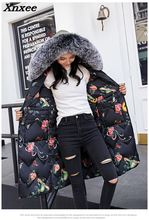 Winter women long coat jacket casual slim long sleeve fur collar parkas female warm coat thickened two side wear print outerwear children outfits one piece sweater suit for girls knitted cardigan autumn winter girls clothing set kids cotton 2 pcs clothes