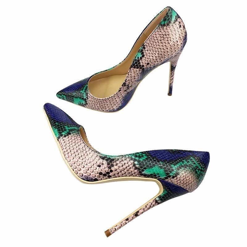 Serpent 8cm Chaussures Mode Talons Bleu 2018 De Height Qualité Mariage Sakura 43 Haute Nouveau Height Height Heel 10cm Taille Sexy 12cm Impression Parti Top Femmes gwqE4PZ