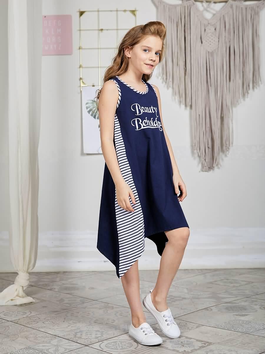 Dress knitted Luminoso for girls knitted backless criss cross sheer mini dress