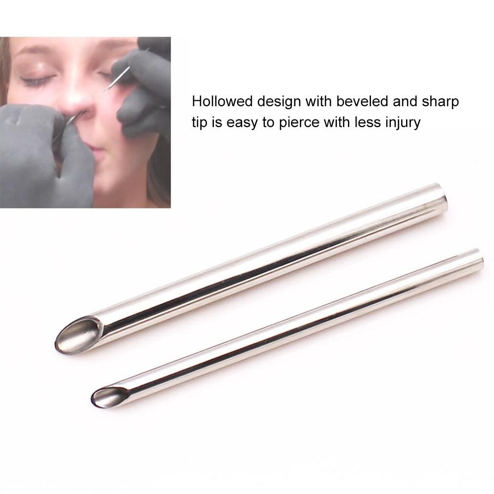 Beauty & Health Tattoo Accesories Sterile Body Piercing Needles Medical Tattoo Piercing Needles For Navel Nipple Ear Nose Lip 2/3/4/5/6/8mm