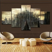 5 Pieces Game Dark Souls III Castle Poster Modern Canvas HD Print Modular Pictures Home Decor Painting Wholesale