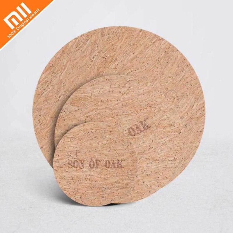 Original xiaomi mijia oak natural softwood kitchen insulation pad coaster pad 180 degree bendable restaurant pot mat35
