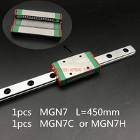 Cnc Router Parts Free Shipping For 7mm Linear Guide Mgn7 L= 450mm Rail Way + Mgn7c Or Mgn7h Long Carriage For Cnc X Y Z Axis
