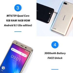 Image 5 - هاتف Ulefone S1 Pro محمول يعمل بنظام الأندرويد 8.1 5.5 بوصة 18:9 MTK6739 رباعي النواة 1GB RAM 16GB ROM 13MP + 5MP كاميرا خلفية مزدوجة 4G هاتف ذكي