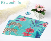 2Pcs Creative Waterproof Placemat 40cmX25cm Simple Easy To Clean Placemat Drink Coasters Table Mat For Home Desktop Decorations simple modern table tempered glass computer desktop home easy to learn desk
