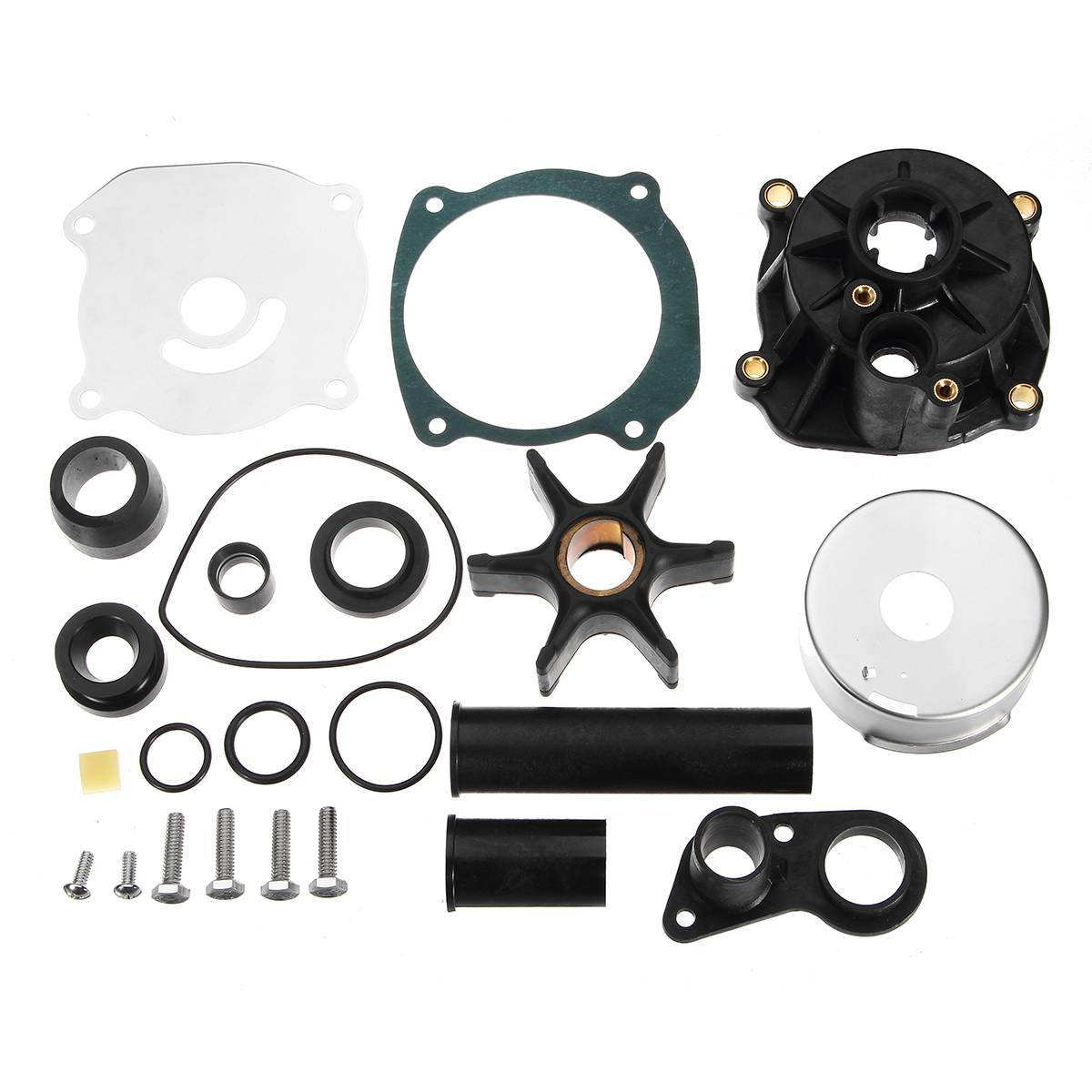 Water Pump Impeller Repair Kit Set Housing Rubber + Metal For Johnson Evinrude 75-250HP 5001595 For Sierra Marine 18-3315-2