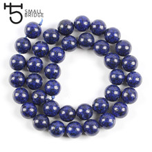 6 8 10 MM Smooth Blue Lapis Lazuli Beads For Bracelet Making Jewelry Diy Round Natural Stone Strand Beads Wholesale S102(China)
