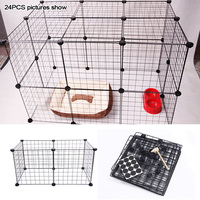 Small Rabbit Enclosure Dog Run Cage Playpen Indoor/Outdoor Puppy Iron Foldable Pet Fence