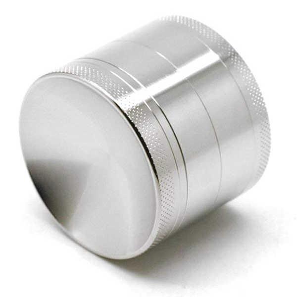 קעור מטחנת מתכת אבץ סגסוגת 4 חתיכות טבק ספייס הרב עשב מטחנות עם תופס אבקה (כסף, 1.6 סנטימטרים)