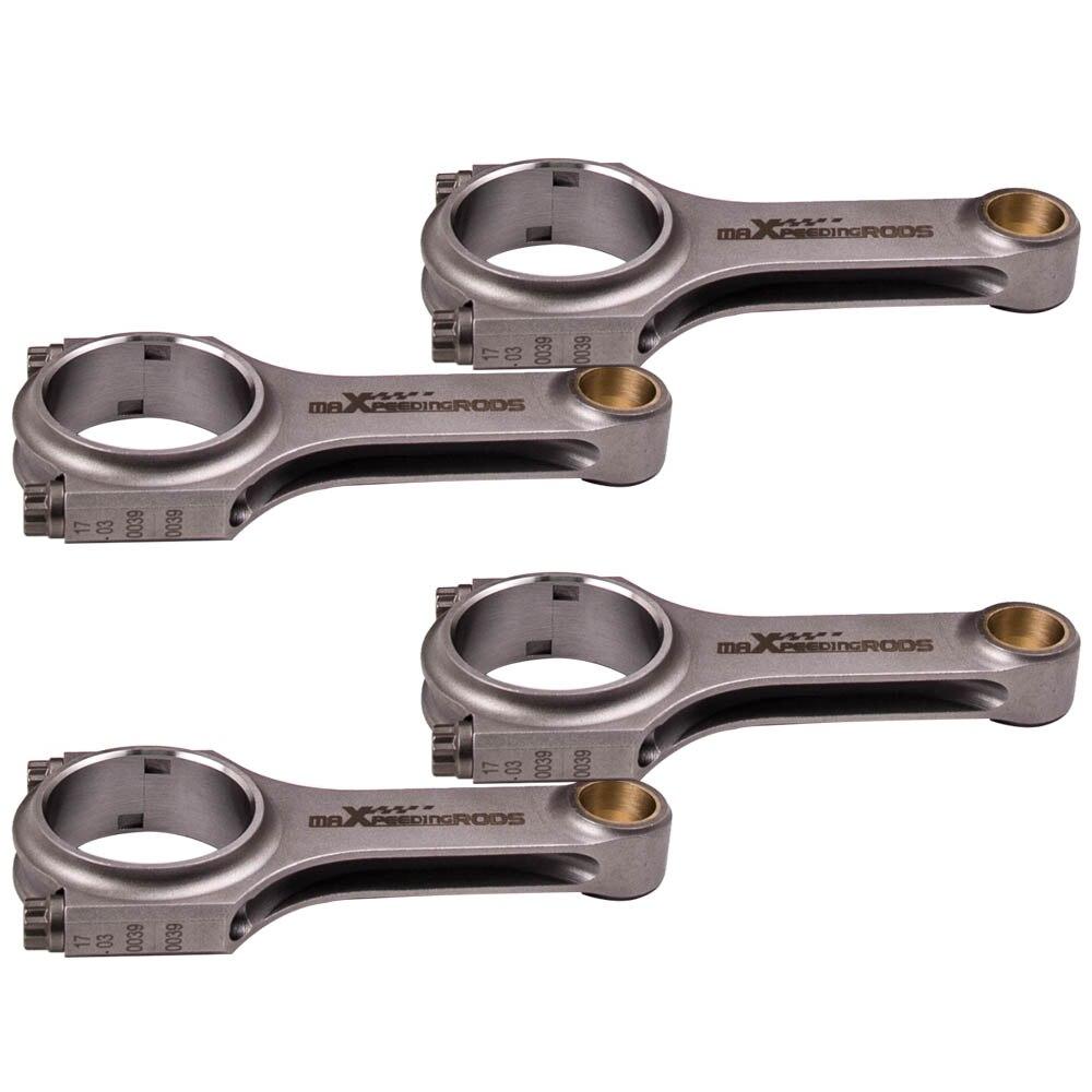 for BMW E30 E36 318is M42 M42B18 M44 M44B19 forged H Beam Connecting Rods Big end width 21.9mm Balanced Shot Peen Cranks Pin
