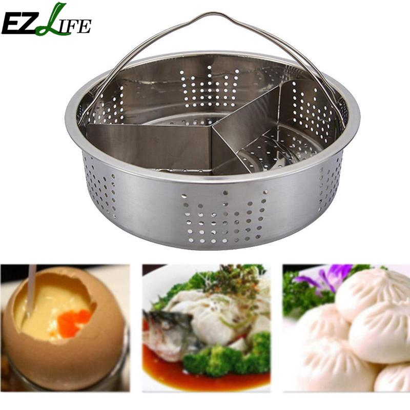 New Stainless Steel Steam Rack Steam Lattice Set Cooking Tools High Quality Egg Steaming Device Kitchen Cooker Accessories
